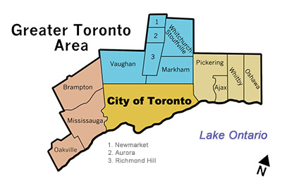 Image of Greater Toronto Area, indicating where General Gas Service, services.